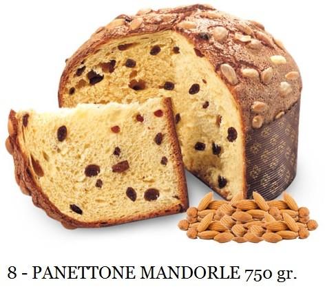 PANETTONE ALLE MANDORLE 750 GR. ELEGANCE