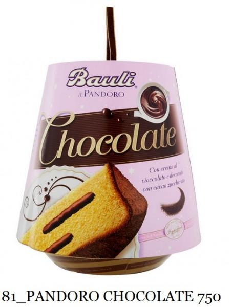 PANDORO CHOCOLATE BAULI 750 GR.