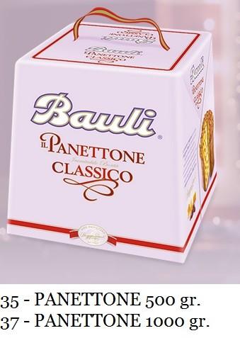PANETTONE TRADITIONALE BAULI 500 GR.
